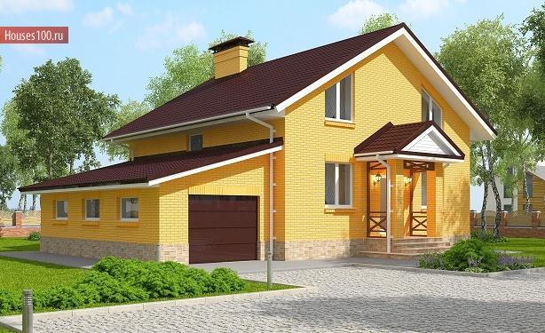 Проекты кирпичных домов и коттеджей Типовые проекты